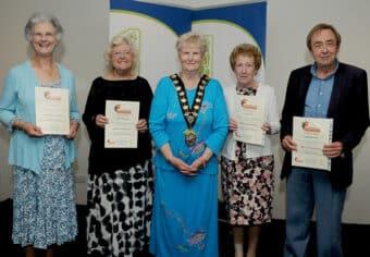 Volunteer certificate evening Eastleigh