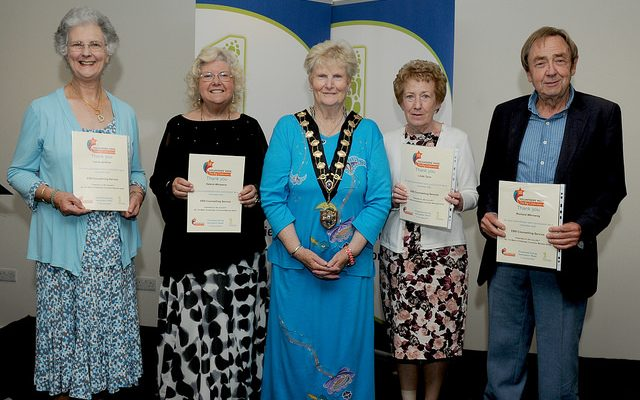 Volunteer certificate evening Eastleigh